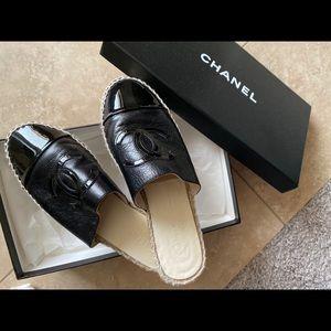 Chanel CC Espadrille Mules